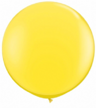 3ft Giant Balloons - Yellow Latex Balloon 1pc